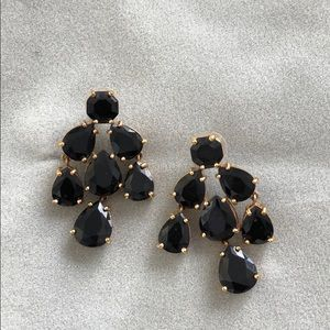 Kate Spade Black Rhinestone Chandelier Earrings